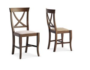 823, Chair made of wood with upholstered seat for hotel