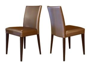 M18, Chair in beech wood, padded, for bars and restaurants