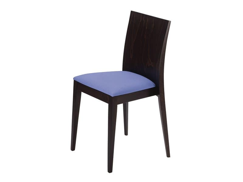 Masha/S/imb, Padded stackable chair, for bars and restaurants