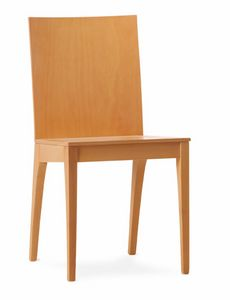 MONIA, Dining chair made entirely of plywood