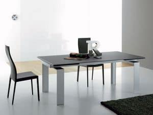 Picture of Alu 380/382, extendable glass tables