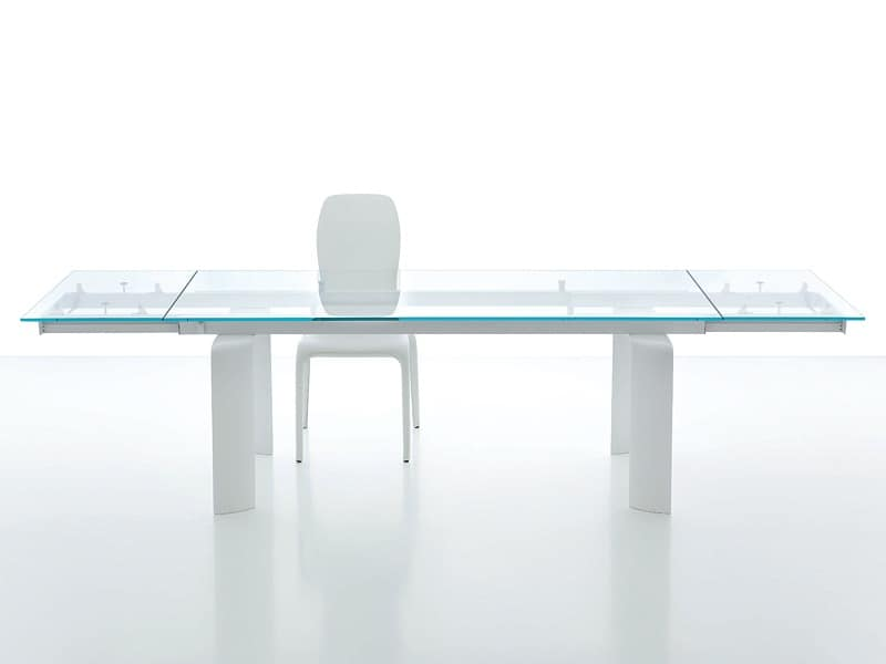 Dining table with extendable glass top IDFdesign : bridge dining table from www.idfdesign.com size 800 x 600 jpeg 10kB