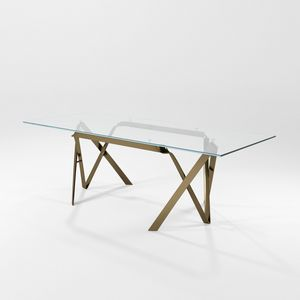 Picture of Compasso, glass-top-table