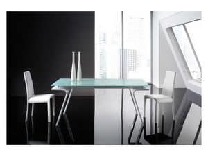 Picture of Hercules White, modern tables with glass top