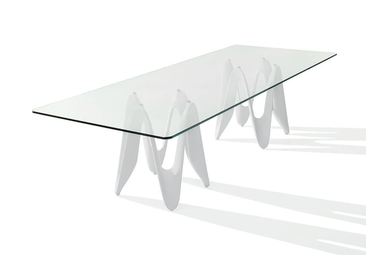 Design table with glass top for dining room idfdesign for Dining table base for glass top