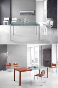 Picture of Titano Weng� / Cherry / White, tables with top in glass