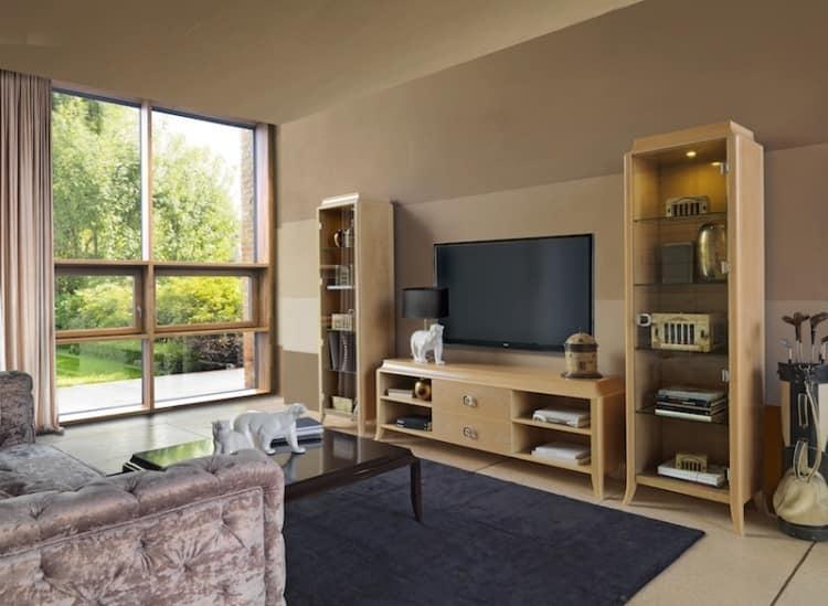 Cabinet With Glass Door For Living Room IDFdesign
