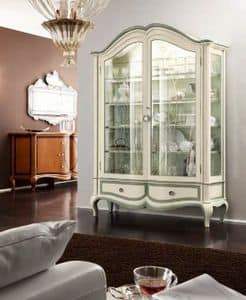 Bourbon Art. 25.122, Display cabinet with backrest fabric and 2 doors