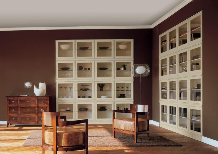 Colors cubica display cabinet 12 wooden showcase dining for Dining room showcase