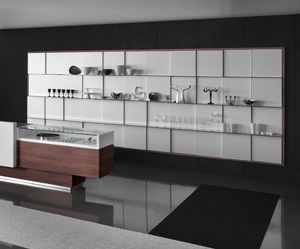 Revolution - wall unit for gifts stores, Wall display unit with glass shelves