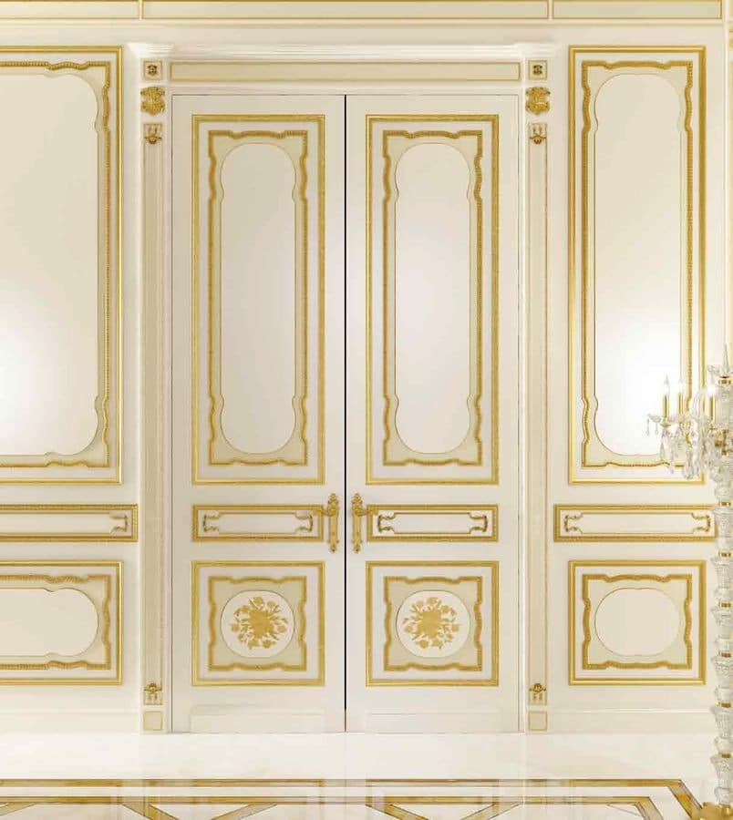 Classic Wainscoting With Gold Leaf Finishings For Hotels