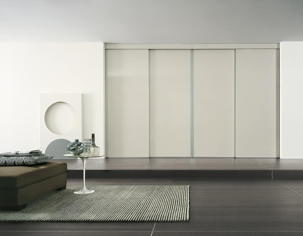 Sliding partitions without rails on the ground idfdesign for Sliding door partition wall