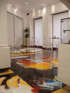 Artistic resin floors 2, Resin flooring, for shops and bars
