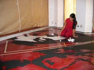 Artistic resin floors, Artistic flooring in resin, for original restaurants