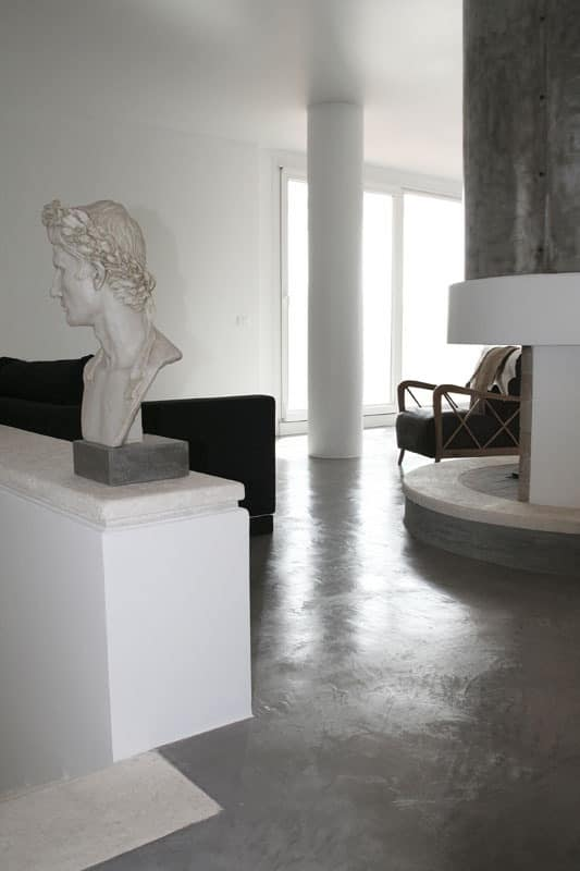 Rendered concrete resin floors, Resin floor, for offices