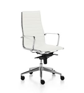 Aalborg Line 01, Executive chair with high backrest for office