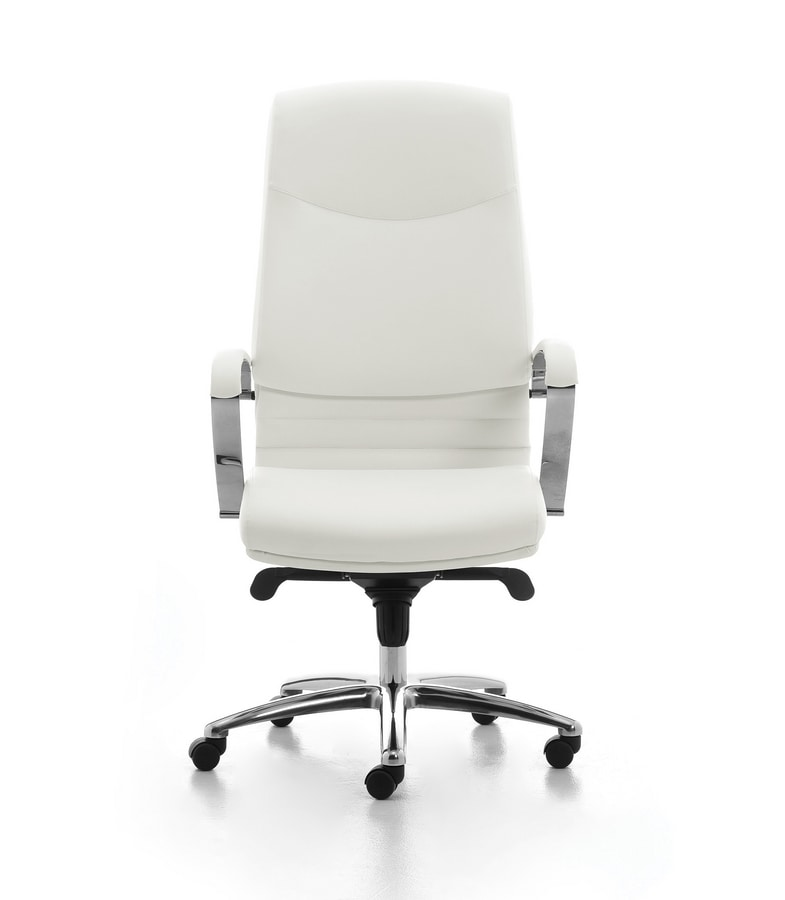 Digital CR 01, Directional padded chair with a high back for office