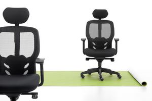 Tempo, Office chair, upholstered seat, mesh back