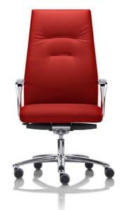 YOUSTER, Directional chair with wheels and armrests, for Office