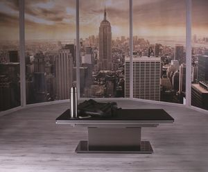 Ares Glass, Height adjustable table with glass top