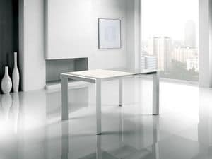 Picture of Cometa, glass top table with extension