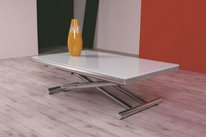 Etoile, Coffee table with glass top, height adjustable