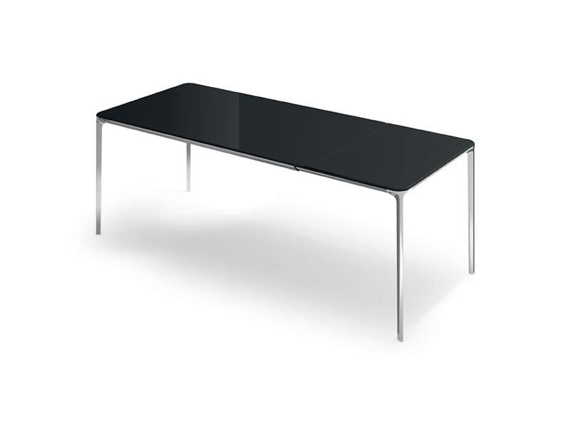 Glass tables with extension Slim 10 Extensible