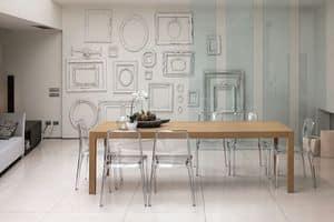 URANO 160 TA501, Rectangular table ideal for modern kitchen
