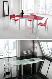 Picture of Vega 120, extendable glass top tables