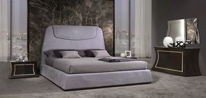 LE27 Madison, Upholstered bed with visible stitching