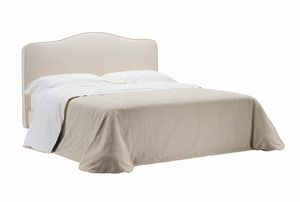 Silvana, Bed with wooden slats covered with fabric
