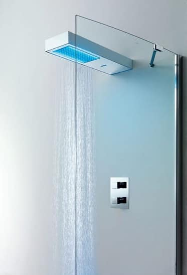 Light Shower Head, Chromed Bath Mixer, With Radio And Remote Control, For  Gym