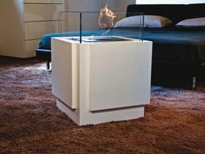 Picture of Cubic, minimal fireplace