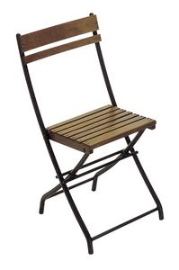 2099, Folding chair, in metal and wooden slats