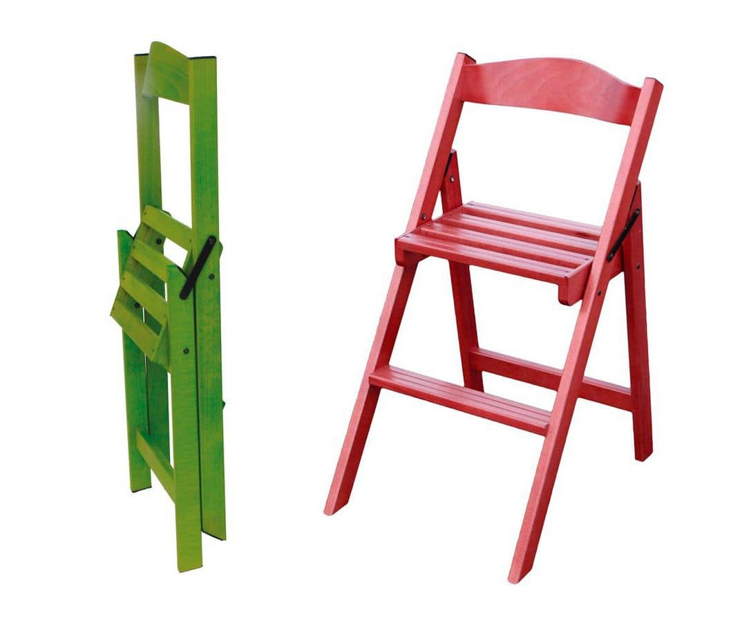 420C Step chair ladder Practical and versatile folding chair ladder made of