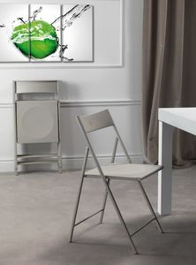 Art. 465 Steel, Chair for kitchen, foldable, in metal and polypropylene