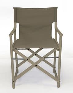 Bonnie, Outdoor cair upholstered in Batyline Textilene, foldable