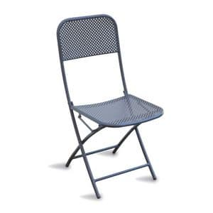 CHF71, Folding chair in painted steel, for outdoor use