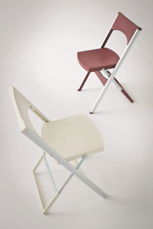 Compact cod. 29, Foldable chair in aluminum and polypropylene, for external