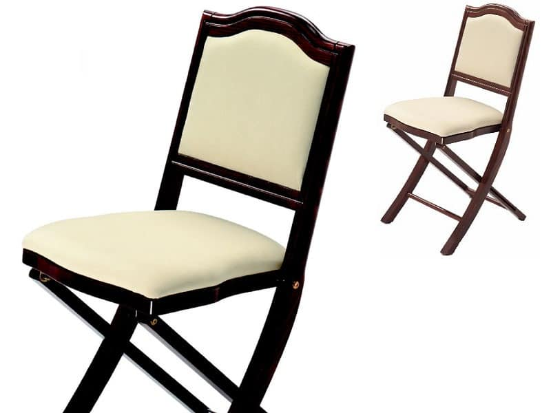 Iris, Upholstered chair, folding, with a classic design