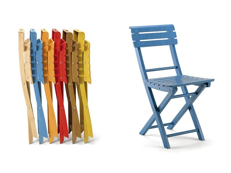 Wooden folding chair different colors idfdesign for Different color chairs