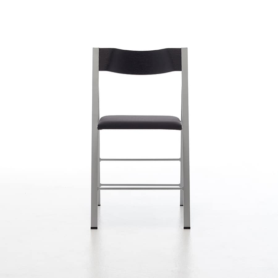 Pocket wood fabric, Space saving chair, foldable, ideal for catering and kitchen