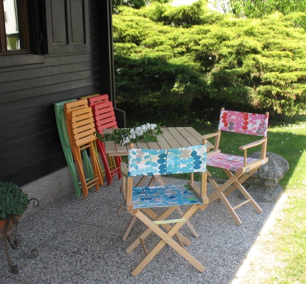 Regista P, Folding director's chair, for indoor and outdoor