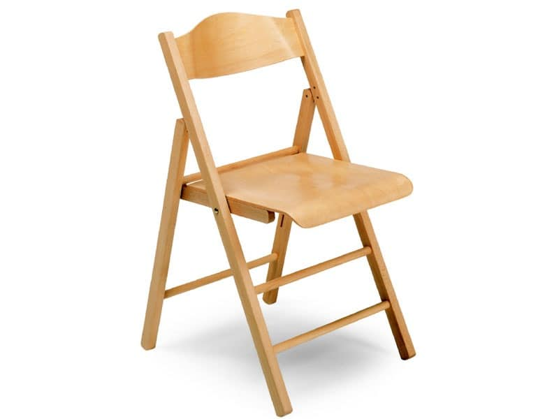 Ugo bis, Wooden chairs, foldable, for conferences and events