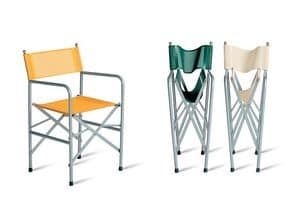 Venezia, Chair of steel and PVC film, for exteriors and interiors
