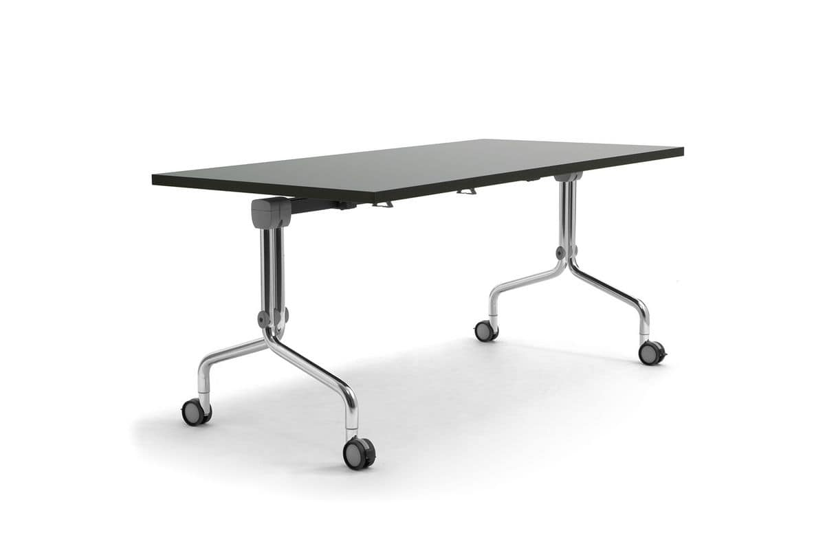Table On Wheels With Adjustable Top For Catering IDFdesign
