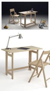 Desk, Space-saving writing desk for hotel and bedroom