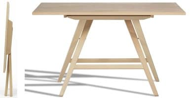 Enea, Space-saving table, for home, school, and outdoors