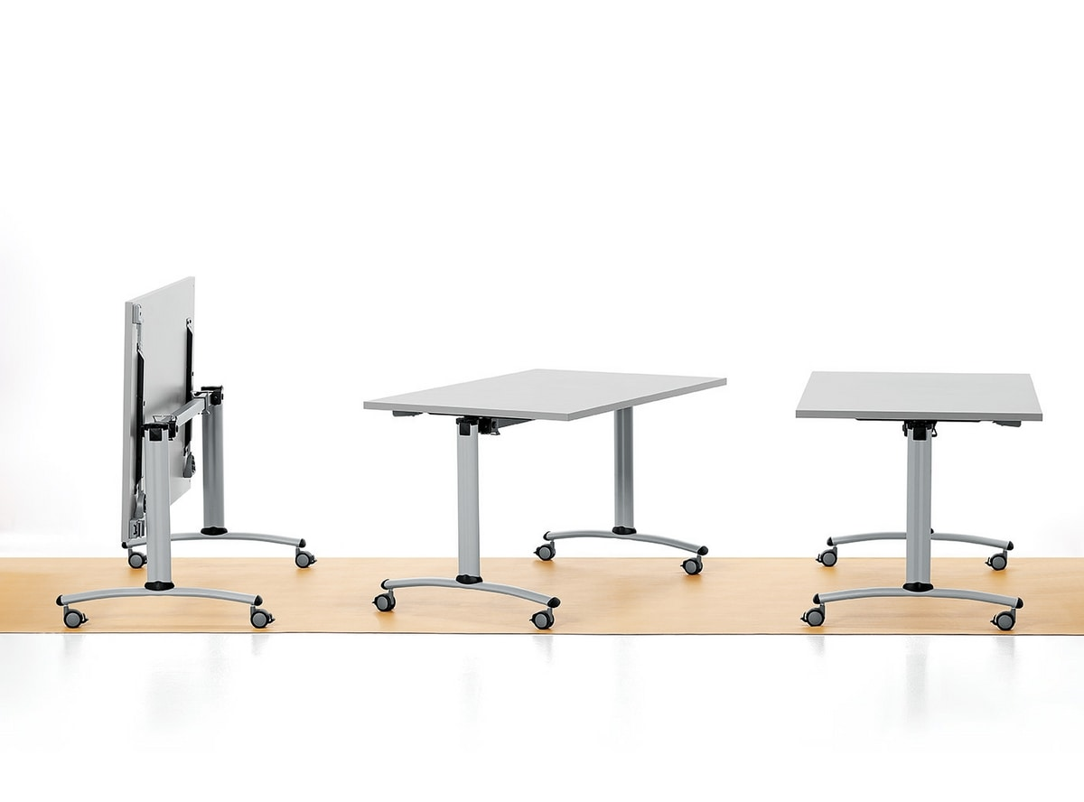 Folding Table With Wheels Melamine Top IDFdesign
