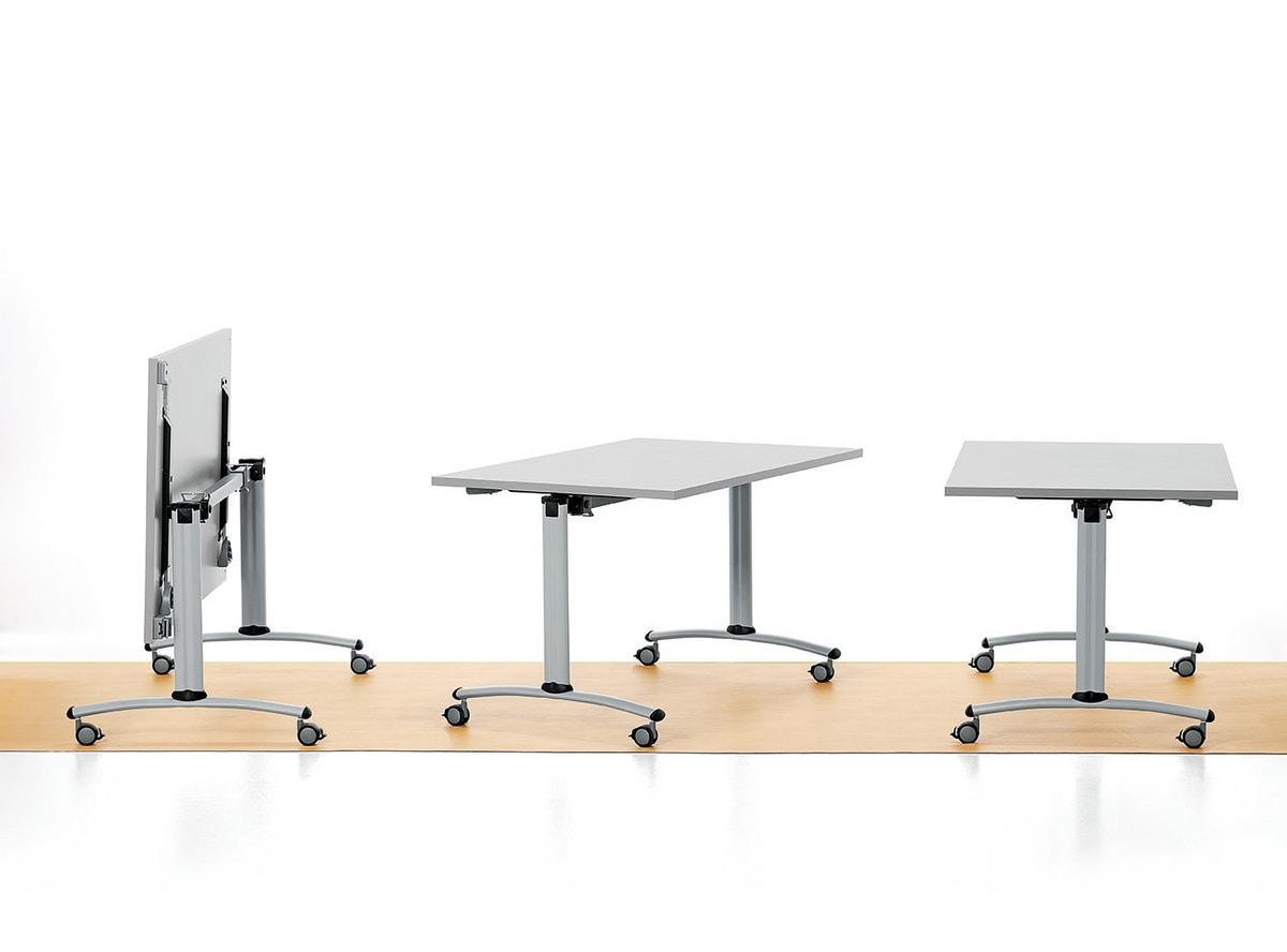 Folding Table With Wheels Melamine Top IDFdesign